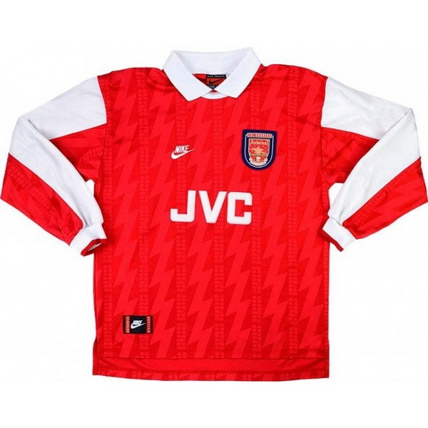 Camiseta Arsenal Primera equipación ML Retro 1994 1995 Rojo