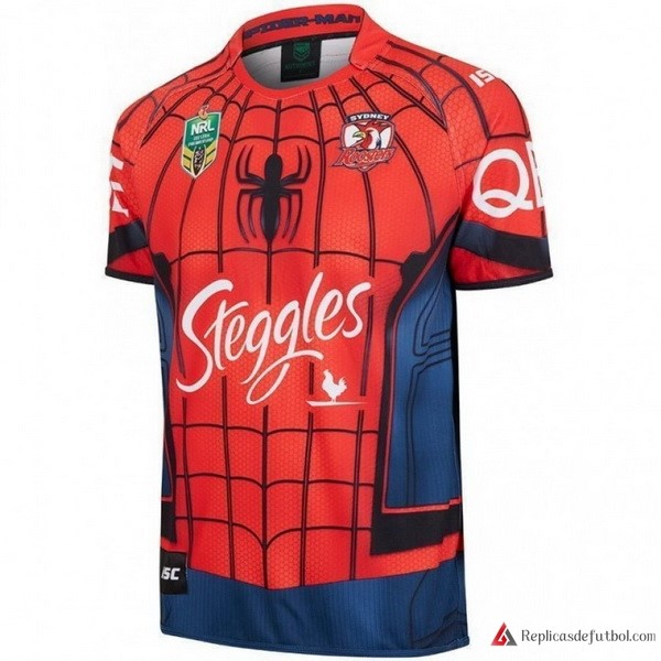 Camiseta Sydney Roosters Spider Man 2017-2018 Rojo Rugby