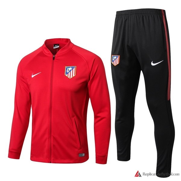 Chandal Atletico Madrid 2017-2018 Rojo Negro