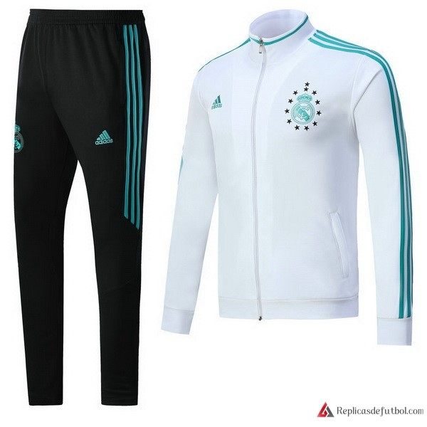 Chandal Real Madrid 2017-2018 Blanco Verde Negro